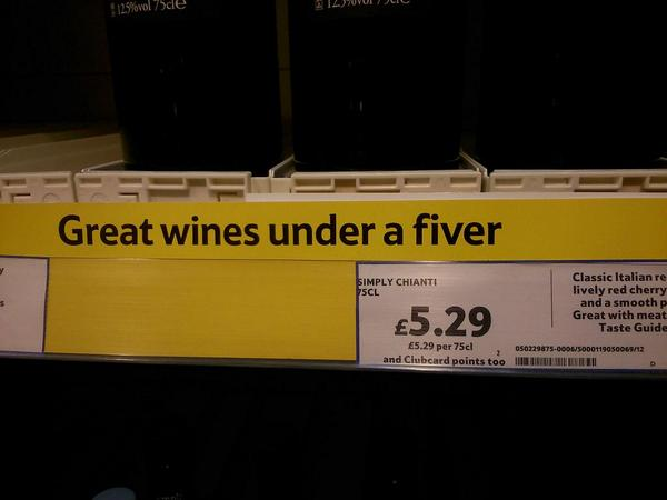 I suspected Tesco's figures were going a bit wonky in the wine section the other week. http://t.co/ncF0S80T2Q