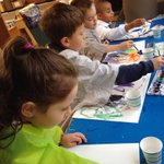 Watercolor artists in the @ACSRochester kindergarten. #roc #acawesome #kinderchat #youngartists #artisagreatstart http://t.co/h6j5jQgWnw