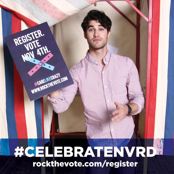 .@DarrenCriss is registered and ready to #CelebrateNVRD --are you? http://t.co/p4kVxnI1fl http://t.co/JIMTkK5c7r