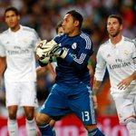 RT @NavasKeylor: Gracias a Dios, lindo debut con el #realmadrid, gran victoria, gran equipo y gran afición.Hala Madrid!!! Pura Vida!!! http://t.co/I21HJVt8AQ