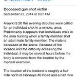 RT @News_8: RT @rachbarnhart: Man shot and killed in Rush... Release implies hunting accident #ROC http://t.co/tLqqnejhey