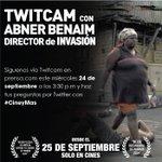 RT @prensacom: No te pierdas mañana el twitcam con Abner Benaim director de @InvasionDoc y haz tus preguntas con #CineyMas http://t.co/iD38GEyrwG
