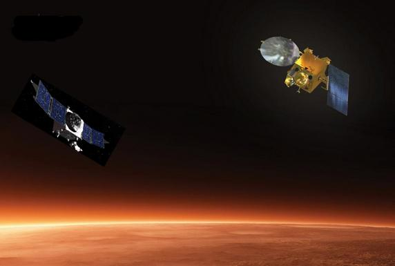 The #MAVEN team congratulates @ISRO for its #Mars arrival! @MarsOrbiter joins the missions studying the Red Planet. http://t.co/8E37nqtcmL