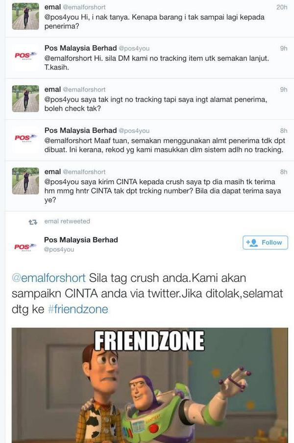Well done lah Pos Malaysia. Made my day. Hahahahaha http://t.co/pcZ0DE1jnP