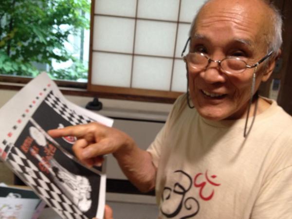 【史群アル仙作品集ニュース!】手塚治虫さんとお仕事をされた谷川俊太郎さんも「23歳なの? いいね〜」と、太鼓判です!  ※鉄腕アトムは、谷川さんの作詞です。 http://t.co/Cb6lxmcTGD