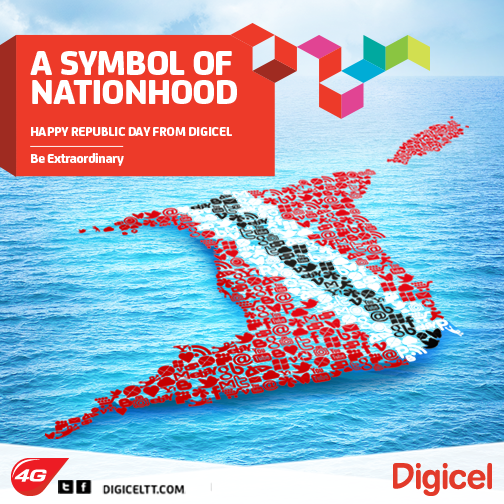 Happy Republic Day Trinidad and Tobago! Let's share continue to share our patriotism. http://t.co/UqeW0ybkhW