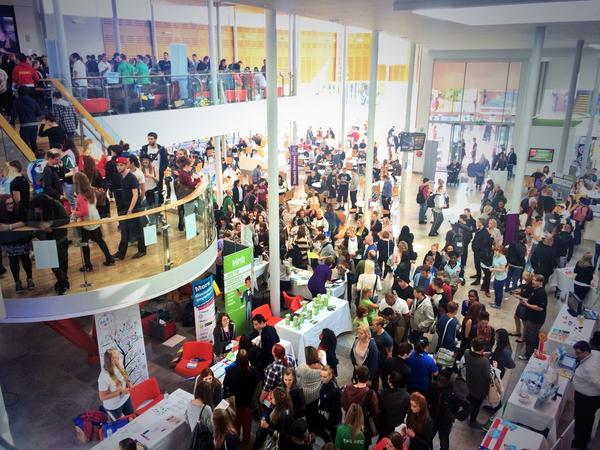 This might be the busiest #EHUfreshers Fair ever! Are you there? RT for your chance to win an EHU hoodie. http://t.co/6S14DcnoUA