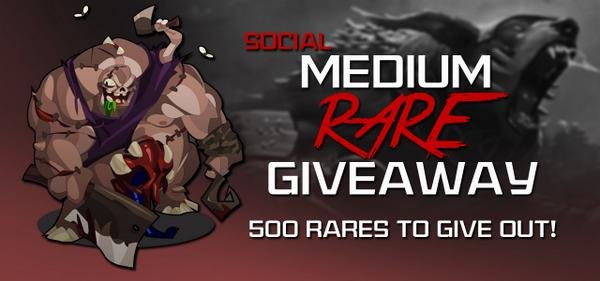 Follow us and retweet this to compete for 100 rares! Five people will win. More info: http://t.co/l6Uw7o6y26 http://t.co/tkkD4YhCd2