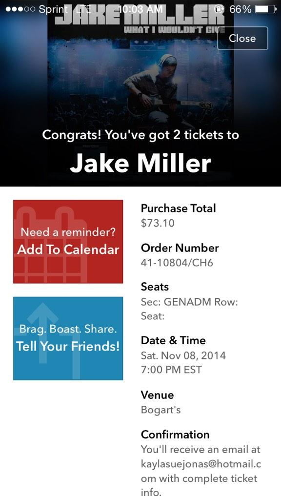 JUST GOT TICKETS FOR @0hiobelieber AND I!!! @jakemiller see you in Cincinnati :) http://t.co/MDLWPZe3uK