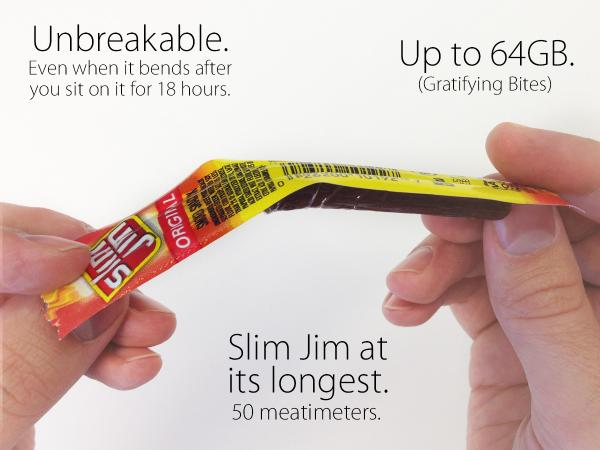 Safe in your pocket, safe in your mouth. #BendGate #6Plus http://t.co/0hZbOpGEqW