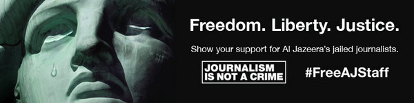 Show your support for Al Jazeera's journalists jailed in #Egypt for just doing their job. #FreeAJStaff. Please RT. http://t.co/NhIN1t0chg