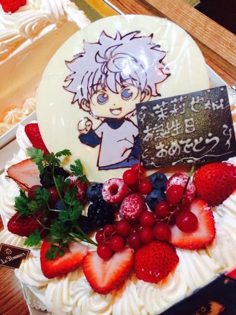 キル君、メインもありました(*^o^*)♡食べるの勿体無い…>_<…#ハンター#Birthday cake