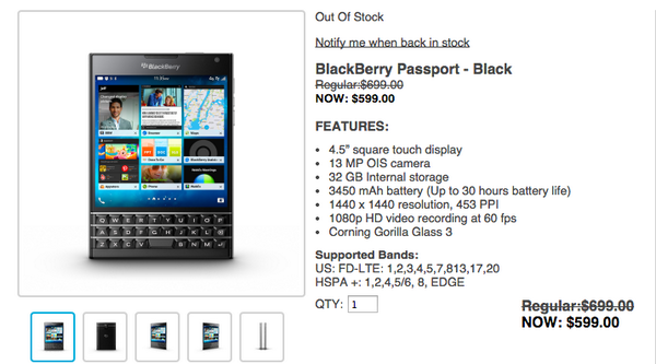 BlackBerry Passport Sold Out On http://t.co/mbmMHXAWCy in US and ... http://t.co/zeWzW44fJl #BlackBerry http://t.co/r7GauONgok