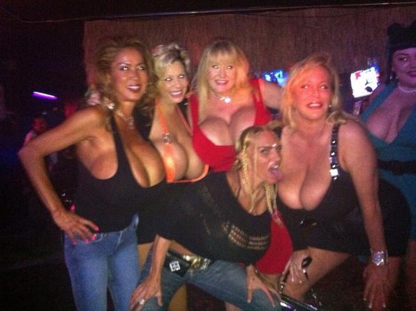 "RT : "": That's a lot of boobies!!!! Minka, me, Lisa Lipps"