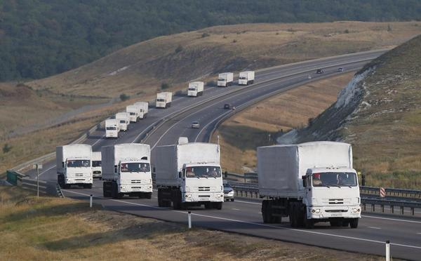 Humanitarian convoy from Russia to East Ukraine = 'Russian aggression'  US air strikes on Syria = 'US peacekeeping' http://t.co/zm7VDmHCZm