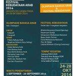 #jogja @FKAUGM2014: 24-28/10/14 festival kebudayaan arab 2014 di UGM   08568139747   http://t.co/aJLogGbrPn