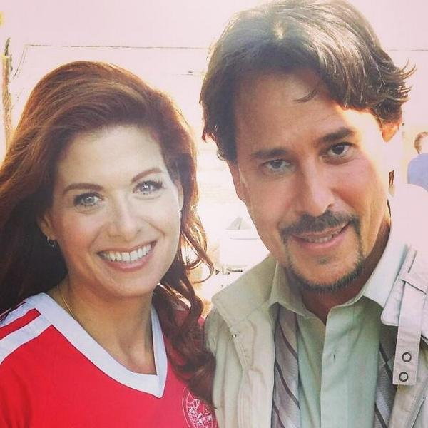 With the amazingly lovely @DebraMessing.   Honored to be part @NBCLaura Thank you @WritersofLaura http://t.co/JueY0Fuqsd