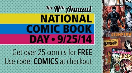 Happy #NationalComicBookDay Use code COMICS and get some of our favorite comics for FREE!  http://t.co/TovIGSxr7f http://t.co/yT6UOnZgro