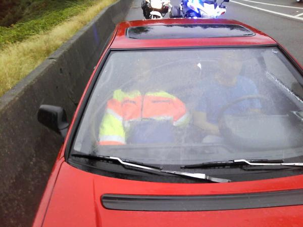 "Take a close look at this ""passenger"" stopped by our officers in the HOV lane #nicetry http://t.co/o2bLYUOidj"