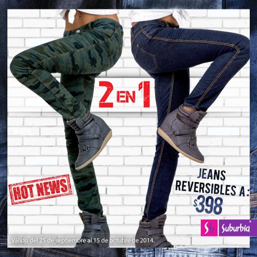 Ven a la #Jeansmanía por estos jeans reversibles y llévate 2 prendas en 1. ¡Están a sólo $398! http://t.co/dqM5hcEN3y