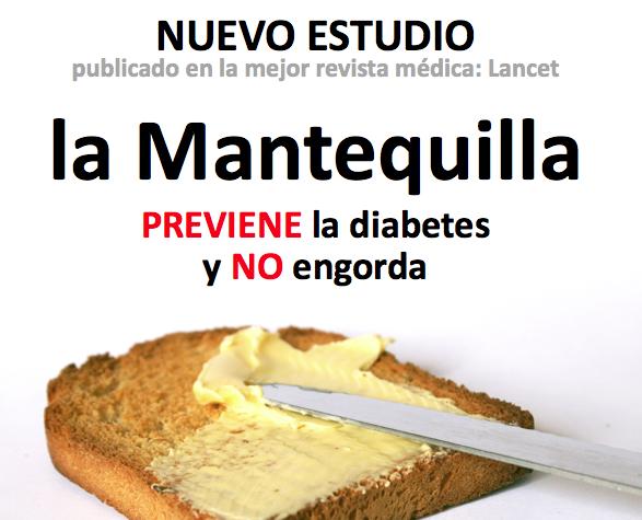 INCREÍBLE: la revista más importante de Medicina acaba de revelar que la MANTEQUILLA previene Diabetes y NO engorda http://t.co/uvBOQVNZXd