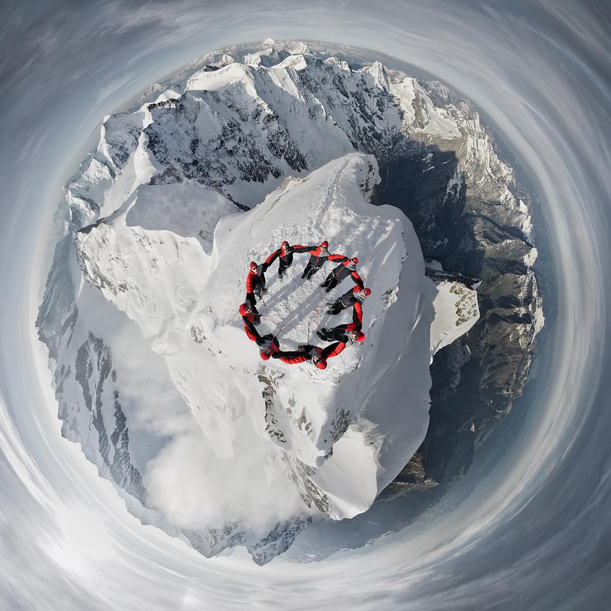 RT @Ripleys: No photoshop here! This amazing photo was taken at the peak of a Swiss mountain with a drone http://t.co/EhlYyLXUZw