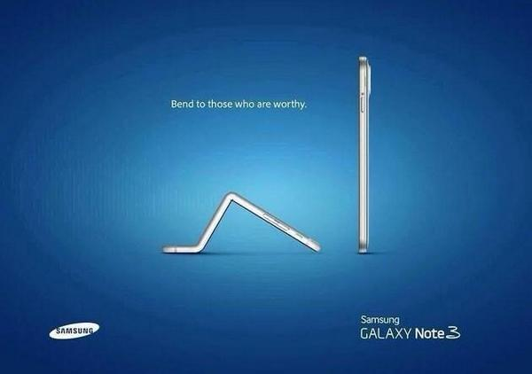 Samsung fires a shot over Apple's bow. http://t.co/C79gVz5C6D