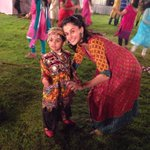 And this is from my colourful Navratra celebration, with my cute little partner.