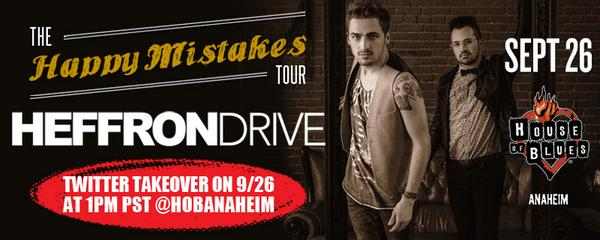 Tomorrow at 1PM PST, @HeffronDrive is taking over our Twitter account! Get your questions ready for the guys! http://t.co/NM5MQ07pWo