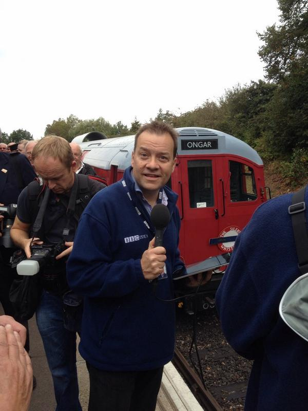 The tube has arrived in Ongar the first time in 20 years, and it's the original. @eorailway @BBCEssex hear more at 2 http://t.co/iramDp25jg