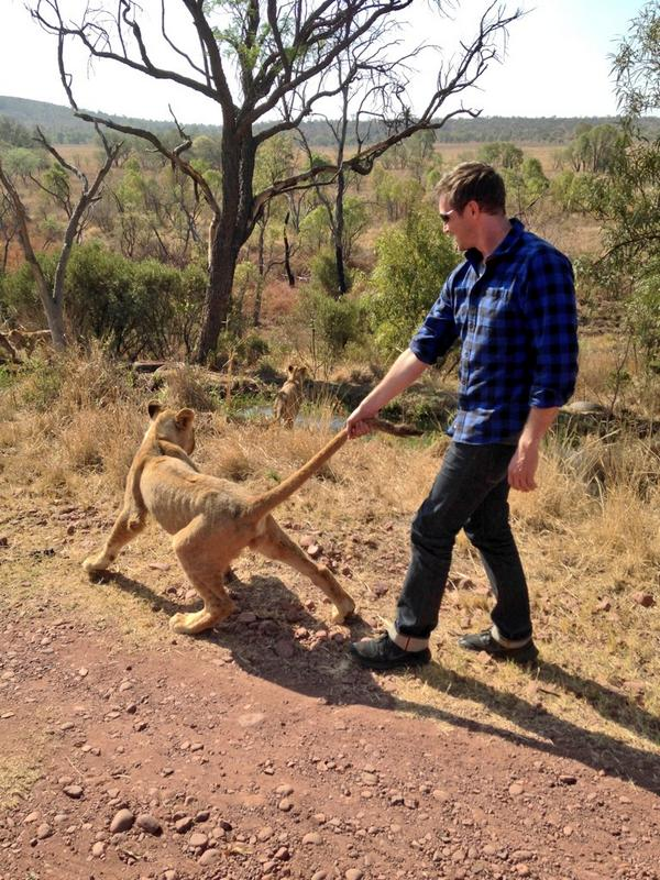 Trying to make a friend in Africa... #lionwalk http://t.co/xNnhBmYIRc