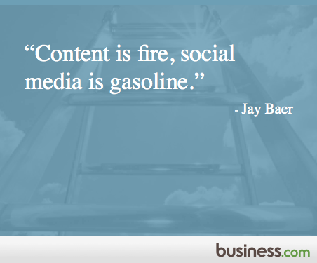 "#Quote of the Day: ""Content is fire, social media is gasoline."" - Jay Baer  #socialmedia http://t.co/RYgVcRuxdK"