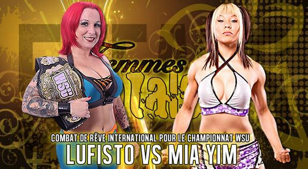 JUST ANNOUNCED. @LuFisto Vs. @MiaYim for the @WSUWrestling Title on October 25th! You CAN'T miss that! http://t.co/CcwXFNWtNA