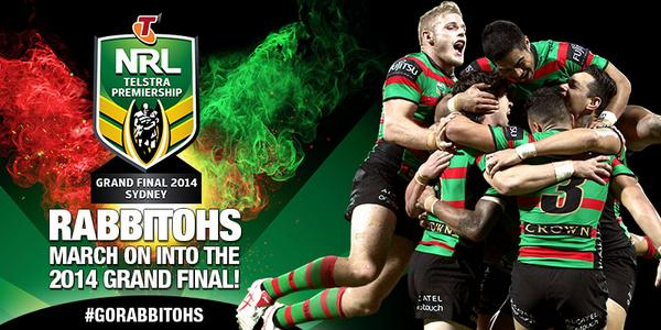 We're marching on into the 2014 #GrandFinal #GloryGlory #GoRabbitohs http://t.co/KTqWJNNhgR