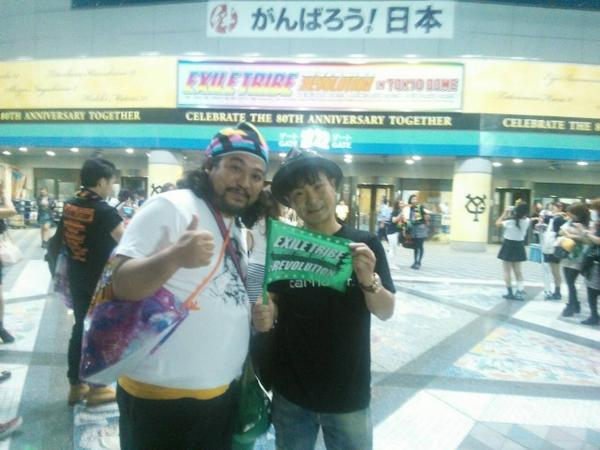 EXILE TRIBE 東京ドーム!  めちゃくちゃかっこよかったぁです。  最高のエンターテイメントでした。  半端なかった。  すごいなぁ。 http://t.co/9sDhcGA1Uz