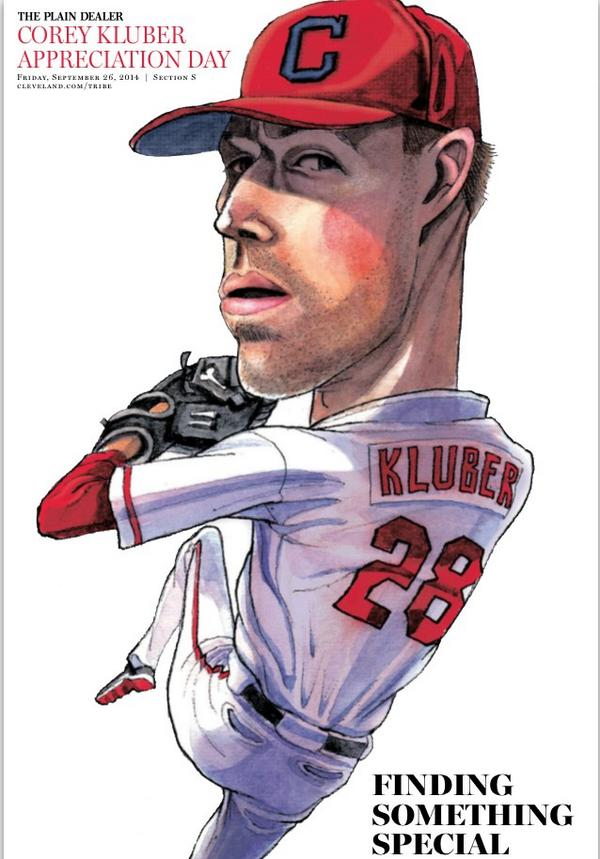 Gotta love the #CyKluber section in today's PD http://t.co/1TyXEGB9z0