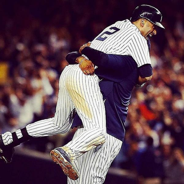 Such an emotional night at Yankee Stadium! Derek you are my friend and brother for life. #FarewellCaptain #RE2PECT http://t.co/qWzlSDLgMN