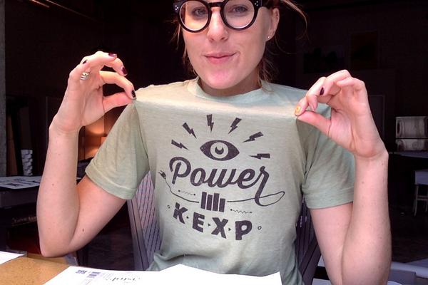 I put on my KEXP shirt today and it just so happens that today is their fall fund drive *thumbs up* http://t.co/Cry1uGmOul