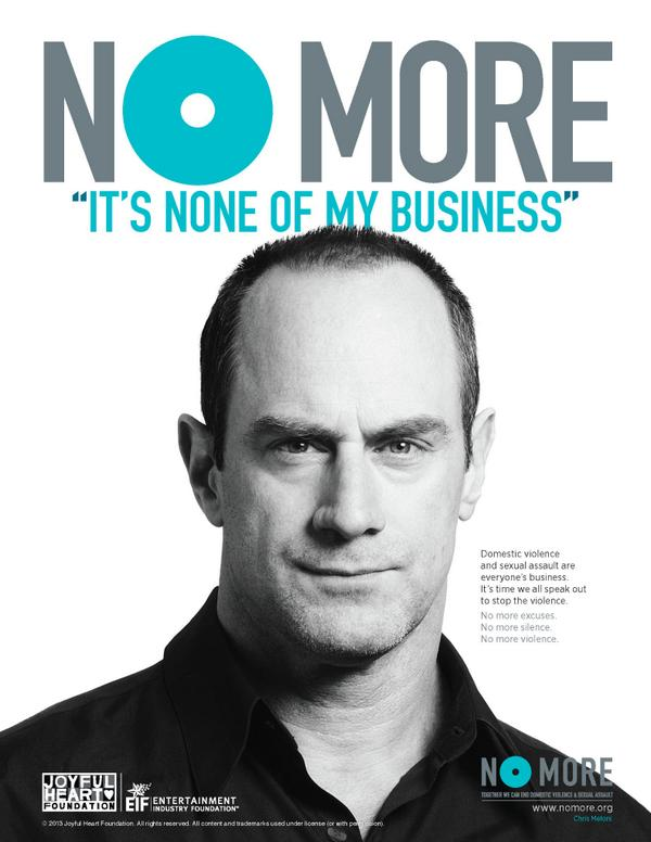 "#NOMOREexcuses. #NOMOREsilence. #NOMOREviolence. RT to #sayNOMORE to ""none of my business."" http://t.co/mKOkXs0aIf"