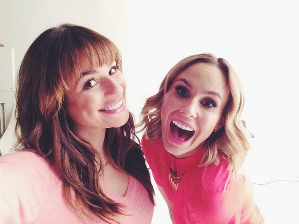 With @msleamichele today for @TheInsider -she's always using her magical powers for good! #Insider http://t.co/OvR3Y605TA