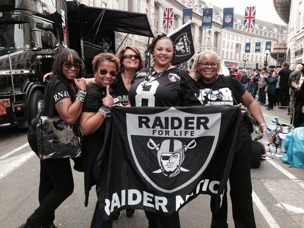 London is now @RAIDERS Nation #NFLUK http://t.co/DnESe39LsK