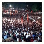 Just witnessed this - crazy crowds, sea of supporters, political rally, maharashtra election fever #shivsena #UT4CM