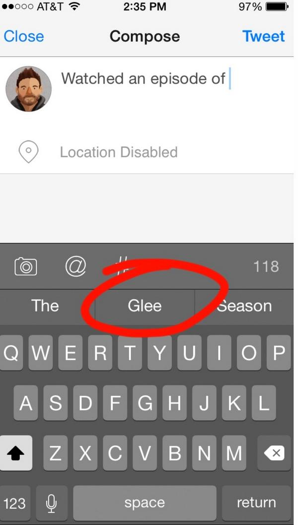 Dear iOS8 keyboard- for future reference, this will never happen. http://t.co/URvoCJAQJa
