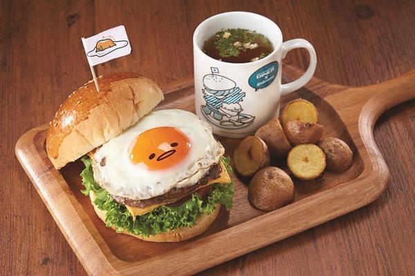 「ぐでたま」をイメージしたカフェが横浜に10月オープン http://t.co/J2qgu71WTb 写真は、ぐでたまバーガー http://t.co/t0SfF7whrJ