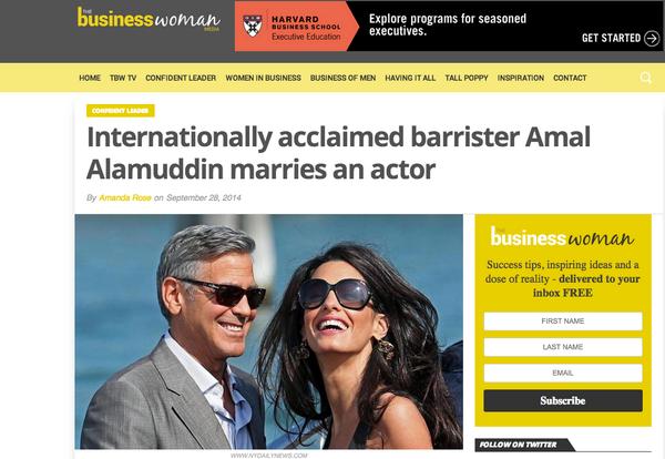 """하! 모든 헤드라인이 '조지클루니 드디어 결혼하다'인데 이건 정말 최고! """"@nimishdubey: ...best headline I have read for a while http://t.co/1WXn2xw650"""""""