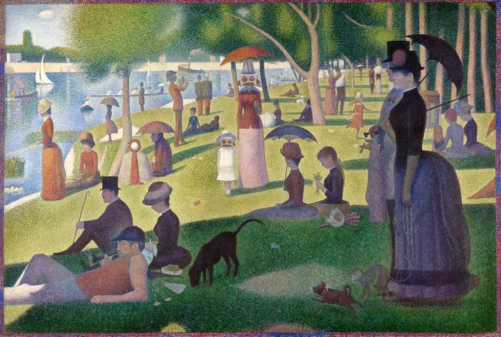 """One day, the very best of all, #Sunday """"A Sunday on La Grande Jatte"""" Georges Seurat 1884 #art at @artinstitutechi http://t.co/NuYZ00FvjP"""