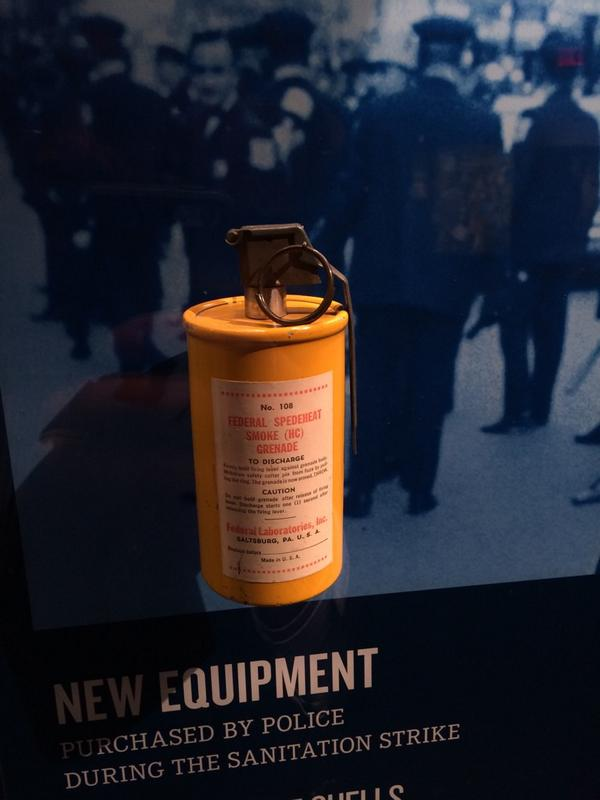 Tear gas...keeping democracy safe at home and abroad for over 50 yrs.  #Ferguson #civilrightsmusuem #HongKong http://t.co/FreFSPoofx