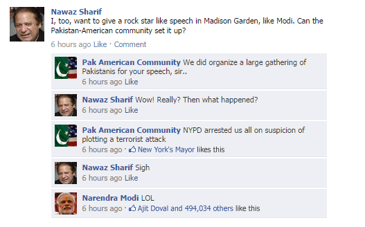 FB Snippet: When Nawaz Sharif asks the Pakistan American community to organize a speech at Madison Sq #ModiAtMadison http://t.co/xOGbCGrI9y