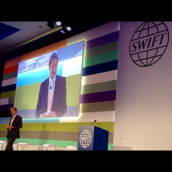 #SWIFT CEO Gottfried Leibbrandt addresses Chairpersons Meeting  at #Sibos Boston http://t.co/1xUU8mIbcR