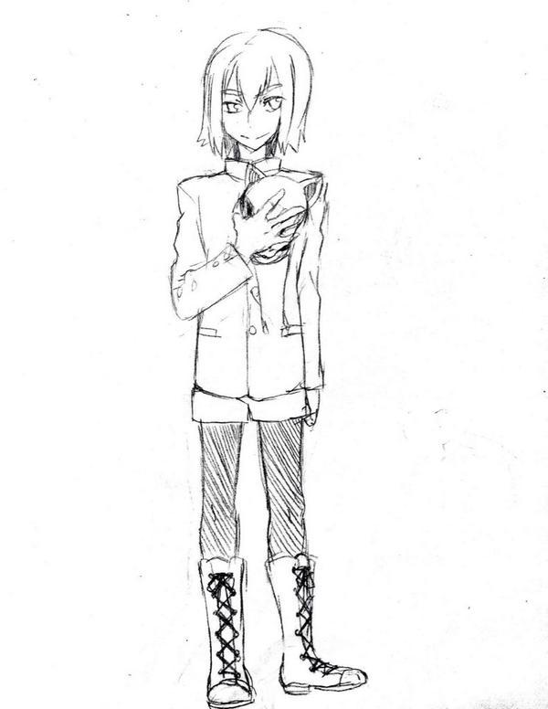 京騒戯画の稲荷(cv石田彰)は学ラン短パン可愛い。